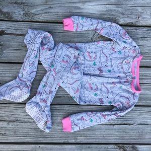 Carter's Pajamas - Girls dinosaur footie jammies